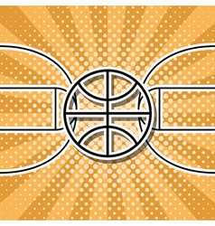 Basketball symbol vector