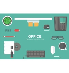 Desk header vector