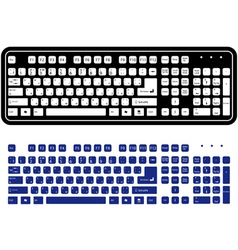 Two different keyboard vector