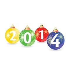 Christmas balls with 2014 vector