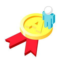 Icon medal and person vector