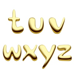 Gold alphabet letters vector