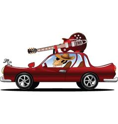 Rock star driving vector