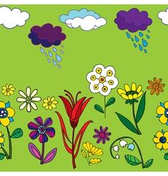 Garden pattern vector