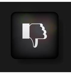Dislike button vector