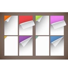 Peeling paper vector