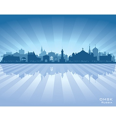 Omsk russia skyline city silhouette vector