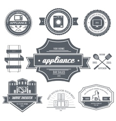 Appliances label template of emblem element for vector