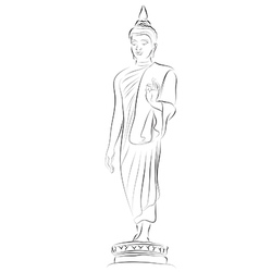 Buddha statue vector
