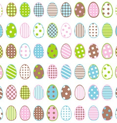 Easter wrapping paper with patterned eggs on white vector