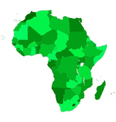 Africa contour map vector