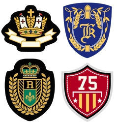 Emblem badge set vector