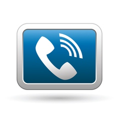 Telephone receiver icon vector