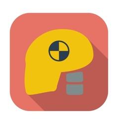 Icon dummys head for crash test vector