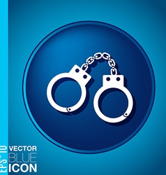 Icon handcuffs symbol of justice police icon vector