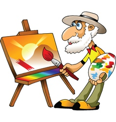 Old painter vector