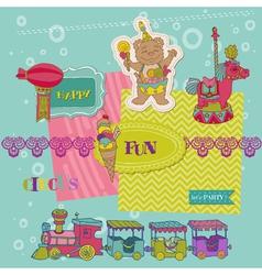Scrapbook design elements - birthday party child vector