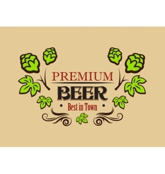 Premium beer banner or emblem vector
