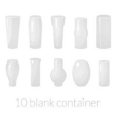 Blank container set vector