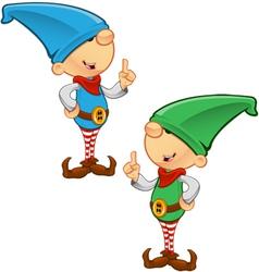 Elf mascot having an idea vector