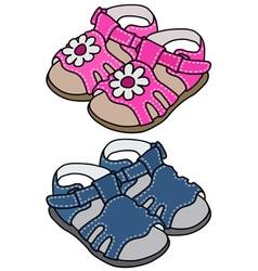 Child s sandals vector