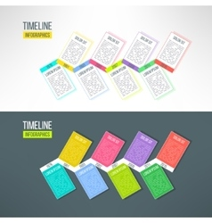 Colorful timeline template infographic vector