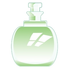 Decorative bottle vector