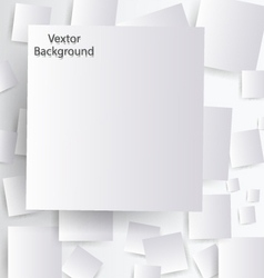 White paper with shadow vector