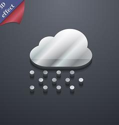 Snowing icon symbol 3d style trendy modern design vector