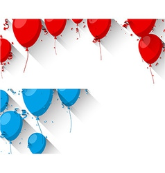 Celebrate backgrounds with flat balloons vector