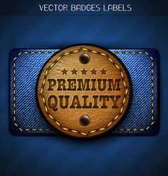 Jeans leather label vector