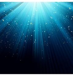 Background of blue luminous rays eps 8 vector