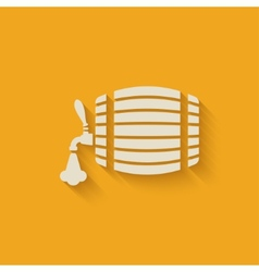 Beer barrel background vector
