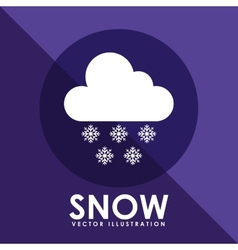 Snow icon design vector