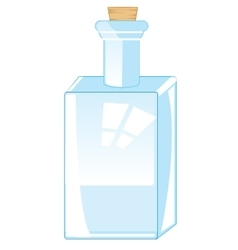 Bottle from glass vector