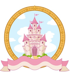Princess castle design vector