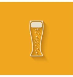 Beer glass design element vector