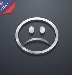 Sad face sadness depression icon symbol 3d style vector