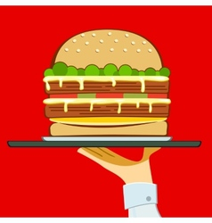 Account american art beef bektashi big bread bun vector