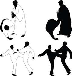 Combat sports aikido vector