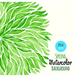 Abstract watercolor spring background vector