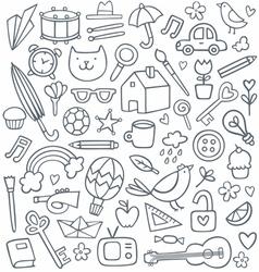 Doodle set vector