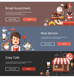 Modern flat design coffee-shop vector