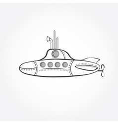 Cartoon submarine design template vector