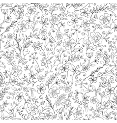 Ornate floral seamless texture endless pattern vector