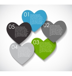 Love infographic templates for business  eps vector