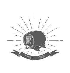 Vintage beer emblem vector