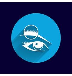 Human eye isolated eye eyebrow human female makeup vector