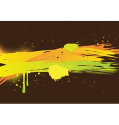 Watercolor abstract on dark background vector