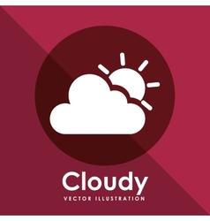 Cloudy icon design vector